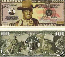 John Wayne Commemorative Novelty Million Dollar Bill