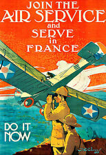 Join the Air Service France  Airplane Areoplane Plane   Poster Print