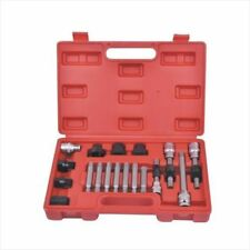 18 Pc Alternator Freewheel Pulley Removal Socket Bit Set Garage Service Tool Kit