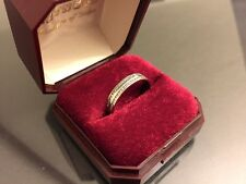 Valentine Sale! Wedding Eternity Ring 2 Diamond Rows on Palladium Unique Boxed