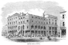 LIVERPOOL Compton House - Antique Print 1860