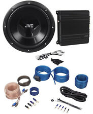 "JVC CS-PK202 Sub+Amp Combo 12"" 1000 Watt Car Subwoofer+300w Amplifier+Amp Kit"