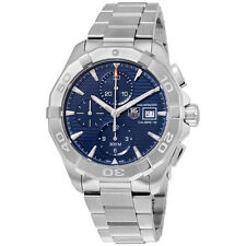 Tag Heuer Aquaracer Automatic Chronograph Blue Dial Stainless Steel Mens Watch