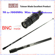 WIDE BAND BNC male Antenna for RadioShack Radio Scanner Police Fire 70-1000MHz