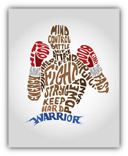 "Typo Box Warrior Fighter Sport Car Bumper Sticker Decal 4"" x 5"""