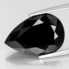 6.50 CARAT MOST BEAUTIFUL NATURAL EARTH MINED BLACK SPINEL GEMSTONE PEAR FACET