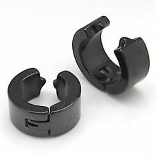 Men Earring Designe Pierced Earrings For Mens Black 1 Pair