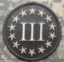 3% PERCENTER COLONIAL ARMED AMERICA ACU LIGHT VELCRO® BRAND FASTENER PATCH