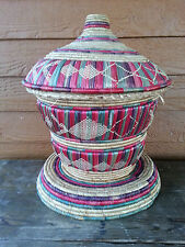 Snake Charmer Basket? Not sure what this is? Multi colored Vintage