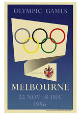 MELBOURNE 1956 Summer Olympic Games Official Olympic Museum POSTER Reprint