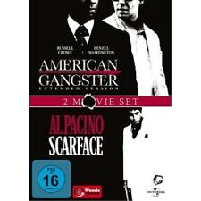 AMERICAN GANGSTER & SCARFACE - 2 DVD NEUWARE DENZEL WASHINGTON,RUSSELL CROWE