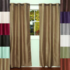 Bethany Solid Color Energy Saving Lined Room Darkening Window Panel 2 Pack