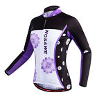 Women's Cycling Jerseys Breathable Bike Wear Clothing Girls Cycle T-shirt Purple