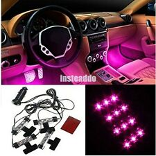 4x 3LED Car Charge Interior Accessories Foot Car Decorative 4in1Car Light Pink