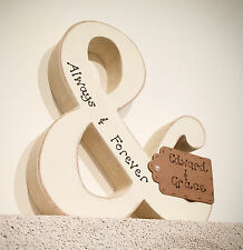 """personalised handmade wedding gift/present """"always and forever"""""""