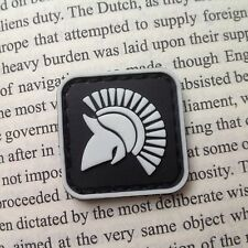 2 Pcs BLACK MINI MOLON LABE KING OF SPARTA GLOW. TACTICAL ARMY PVC PATCH