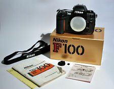 Working NIKON F100 35mm SLR Film Camera Body, Strap & Manual - BOXED