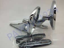 VINTAGE STYLE CLASSIC CHROME TWIN SPORT ROUND CAR ,TRUCK SIDE VIEW MIRRORS