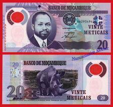 MOZAMBIQUE 20 Meticais 2011 Polymer Pick 149 SC / UNC