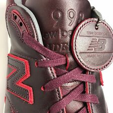 New Balance X 998 Horween Burgundy Leather USA Shoes Sizes 12 M998WD NEW