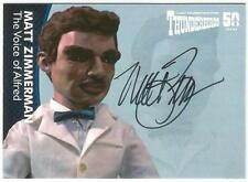 Thunderbirds 50 Years Auto Card MZ3V Matt Zimmerman Voice of Alfred