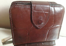 Mulberry Brown Congo Leather 3/4 Zip Around Wallet/Purse - EXCELLENT!!