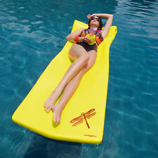 Texas Recreation Swimming Pool Super Soft Foam Kool Float Yellow Lounge Mattress