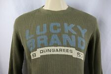 Lucky Brand Thermal Knit Wear Men's Long Sleeve Crewneck Pullover Size M