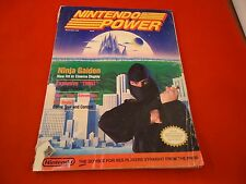 Nintendo Power March April 1989 Ninja Gaiden Cover w/ Attached Strider Poster