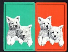 Vintage Swap/Playing Cards - Dogs Pair (LINEN)