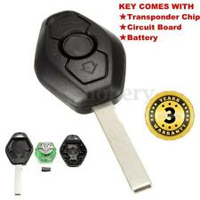 Remote Entry Key Fob Transmitter Clicker Uncut Blade Replacement 433MHz for BMW