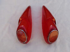 DKW AUTO UNION 1000 & 1000 S MODELS TAIL LIGHT LENS SET NEW !!!!!!!!