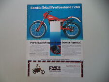 advertising Pubblicità 1982 MOTO FANTIC TRIAL PROFESSIONAL 240