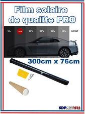 Film solaire de qualite PRO, 3M x 76cm, teinté 15% VLT ( Noir) auto,batiment