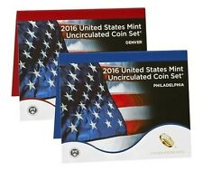 2016 U.S. Mint Annual Uncirculated Set, 13-D & 13-P Coins, Sealed Mint Box & COA
