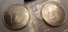 2004 P & D Michigan Quarter Coin Set (2 Coins) *Mint Cello* *Free Shipping*