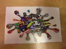 "Sticker Bomb ""paint splat"" sticker / decal  LARGE 300x200mm (approx A4)"
