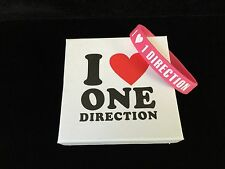 One Direction pink rubber silicone wristband bracelet
