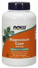 Now Foods MAGNESIUM CAPS 400 mg - 180 capsules NERVOUS SYSTEM SUPPORT