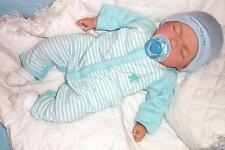 "Reborn Sleeping 18"" Baby Boy Doll with Magnetic Dummy Adorable Child Friendly"