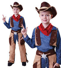 Childrens Kids Cowboy Fancy Dress Costume Boys Outfit Cow Boy Childs M