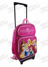 "16"" Disney Princess Backpack Teen Girls Large Rolling Backpack"