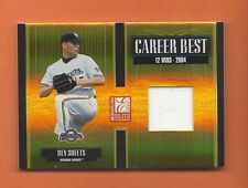 2005 ELITE CAREER BEST BEN SHEETS GAME-USED JERSEY #d 137/250 BREWERS