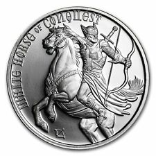 Four Horseman Of The Apocalypse Series - White Horse Of Conquest 1 .oz BU Silver