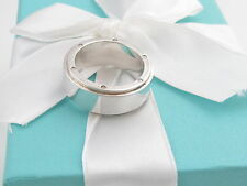 TIFFANY & CO SILVER METROPOLIS RING BAND SIZE 9 BOX INCLUDED