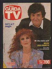 GUIDA TV MONDADORI 17/1988 MILVA GIGI PROIETTI PROGRAMMI RAI MEDIASET MONTECARLO