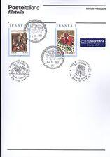 ITALIA 2003 NATALE  BOLLETTINO COMPLETO DI FRANCOBOLLI ANNULLO FDC