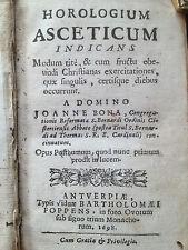Bona 1698 Horologium asceticum Antwerpen Foppens ZELDZAAM