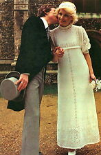 Vintage knitting pattern-how to make a 1960s mod style juliet wedding dress