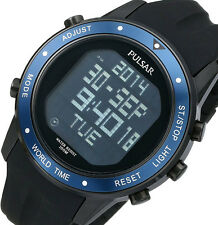 PRE-OWNED $199.95 Pulsar Men's On The Go Japanese Quartz Digital Watch PQ2021
